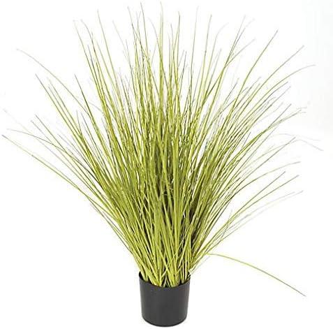 30 Inch Green Yellow Potted Grass Award-winning store Onion PVC Super-cheap Bush