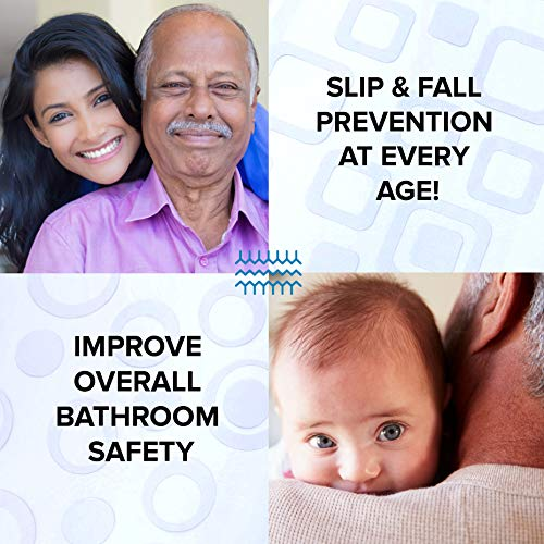 SlipX Solutions Adhesive Non-Slip Safety Treads for Bathtubs, Showers, Pools, Boats, Stairs