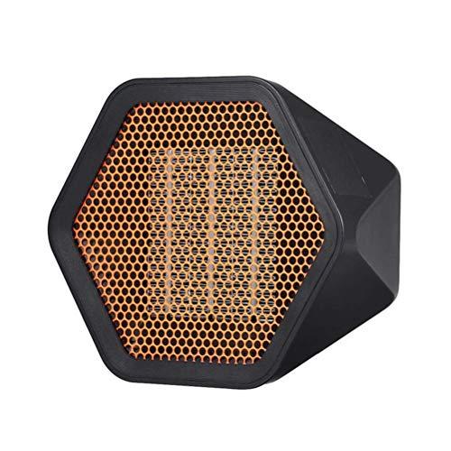 XIANGAI Calefactor Pequeños electrodomésticos Cubierta eléctrico Calentadores de Espacio, Mini Ventilador eléctrico Calentador con 2 Engranaje de Ajuste, 600W Energía EF.(Color: Negro), Color: Negro