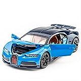 Coche de Modelo 1:32 Coche de Juguete de aleación Bugatti Chiron Sound Light Diecasts y colección de vehículos de Juguete Regalo Pull Back Modelo de Coche Juguetes para niños