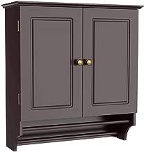 Yaheetech Bathroom/Kitchen Wall Storage Cabinet Collection Wall Cabinet 2-Door Wall Cabinet - Espresso