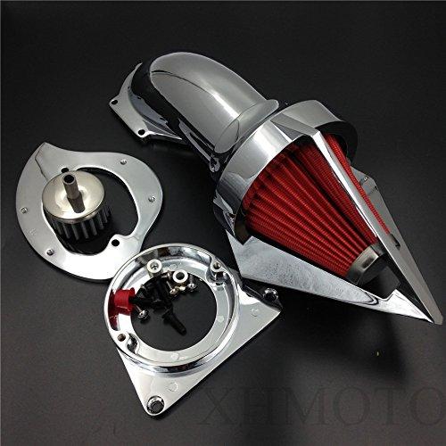 Kit d'admission d'air triangulaire pour Kawasaki Vulcan 800 Classic 1995-2012 Chromé
