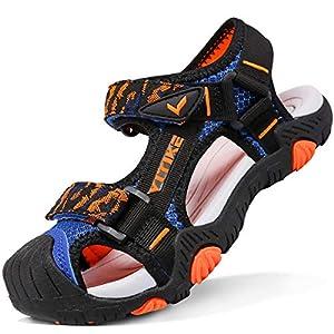 Sandalias para niño Sandalias Deportivas Zapatillas de Trekking y Senderismo Unisex Niños(D Azul,33 EU)