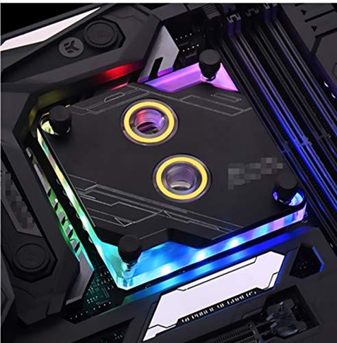 MiaoMiao CPU-XPR-A-MC-V3 Bloque de procesador CPU Fit para Intel LGA1150 1151 1155 1156 115611/2011 X99, PC Soporte de enfriamiento de Agua 12V RGB / 5V ARGB Service (Blade Color : 5V 3PIN Black)