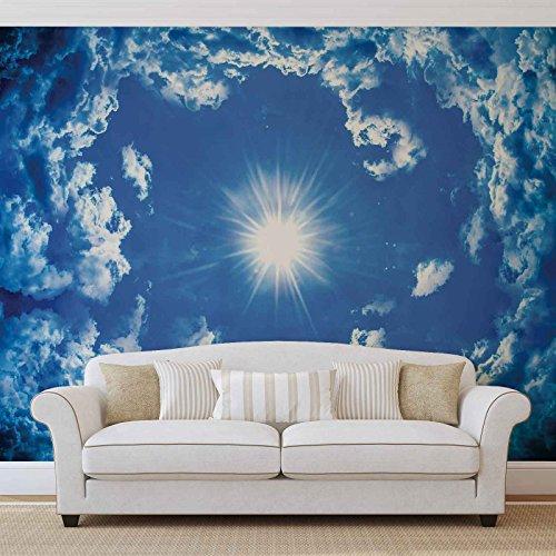 Himmel Wolken Sonne Natur - Forwall - Fototapete - Tapete - Fotomural - Mural Wandbild - (2306WM) - XL - 208cm x 146cm - VLIES (EasyInstall) - 2 Pieces