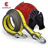 Chairlin Abschleppseil, 5 cm x 4 m, Laborgetestet, 9 Tonnen Bruchfestigkeit – strapazierfähige Tasche mit Kordelzug – dreifach verstärkte Schlaufenende für Sicherheit – Notfall-Abschleppgurt