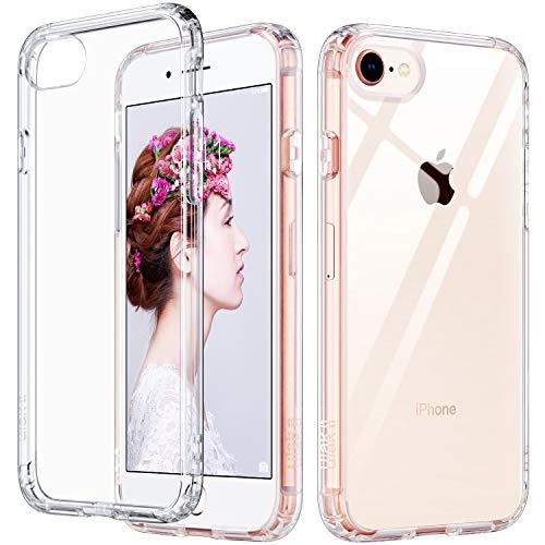 ULAK Slim Ultra Clear iPhone 8 Case, iPhone SE Case 2020, iPhone 7 Case 4.7 Inch, Hybrid TPU Shock-Absorption Anti-Scratch Bumper Hard Back Cover for New iPhone SE/iPhone 8/7 (HD Crystal Clear)