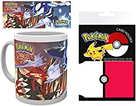 1art1 Set: Pokemon, Omega Ruby and Alpha Saphire Photo Coffee Mug (4x3 inches) and 1 Pokemon, Credit Card Holder Wallet for Fans Collectible (4x3 inches)