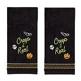 SKL HOME by Saturday Knight Ltd. Creep It Real Hand Towel Set, Black