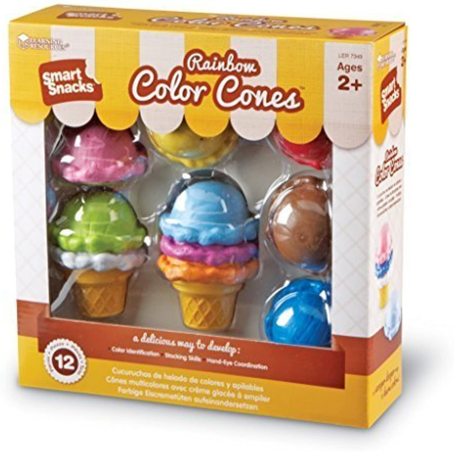 Learning Resources Smart Snacks Rainbow color Cones by Learning Resources