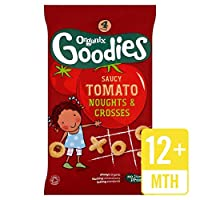 Organixは、有機生意気なトマトNoughtsをグッズ&4×15グラムを横切ります (x 4) - Organix Goodies Organic Saucy Tomato Noughts & Crosses 4 x 15g (Pack of 4) [並行輸入品]