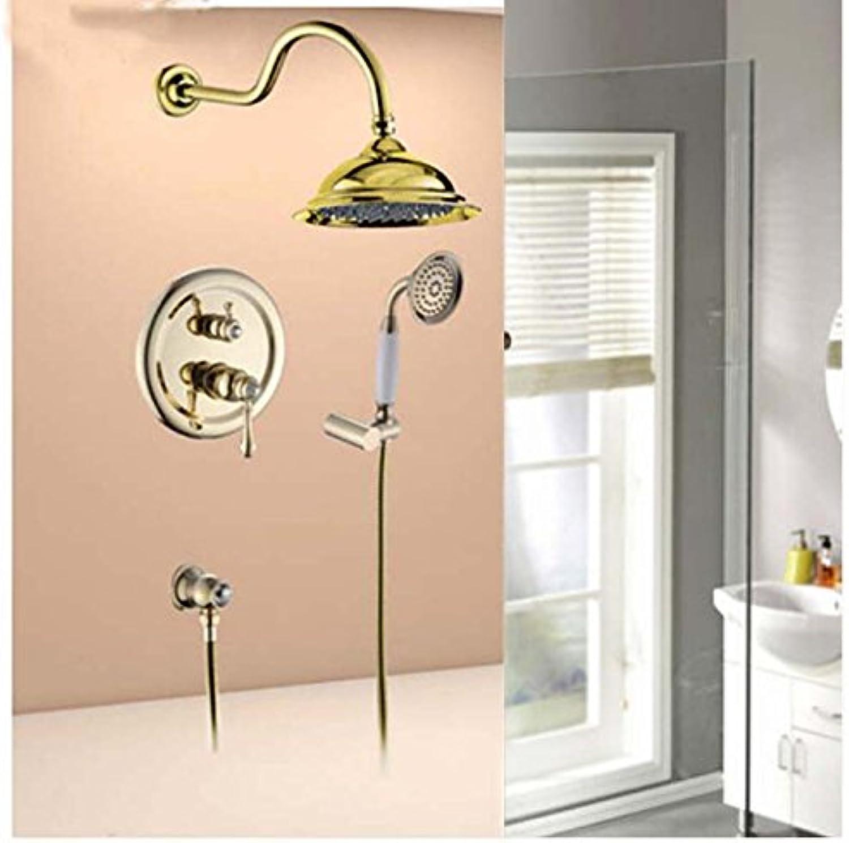 Maifeini Moderne Wand Aus Massivem Messing Goldene Dusche Wasserhahn Messing Hand Tippen Dusche Regendusche Hahn Tippen, Lschen