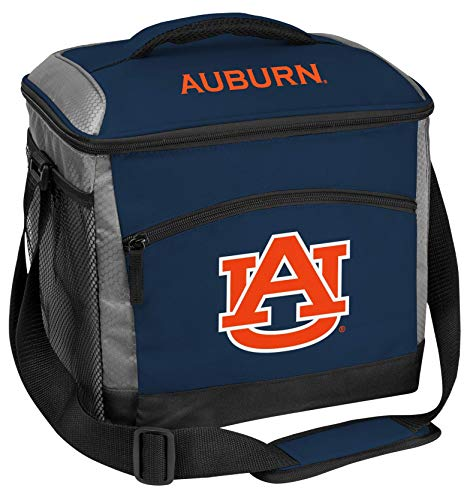 Rawlings NCAA Soft Sided Insulated Cooler Bag, 24-Can Capacity, Auburn Tigers, Orange