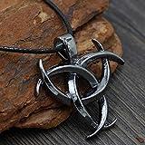 Viking Triple Cuerno De Odin Rey De Asgard Nórdico Vikingo Thor Plata Dios Pewter Colgante Collar