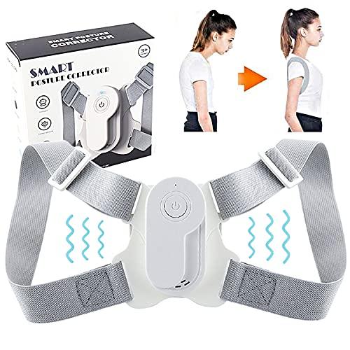 N/0 Rücken Geradehalter mit Vibration, 2021 Upgrade Verstellbare Haltungskorrektur Rücken Damen Herren Kinder, Geradehalter zur Haltungskorrektur gegen Rücken- Nacken- und Schulterschmerzen