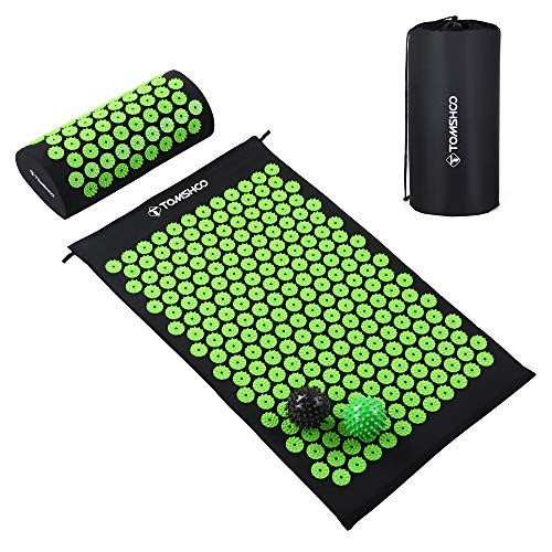 TOMSHOO Kit d'Acupression Tapis Coussin de Massage- Tapis...