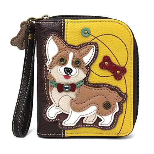 CHALA Zip-Around Brieftasche - Corgi - Senf