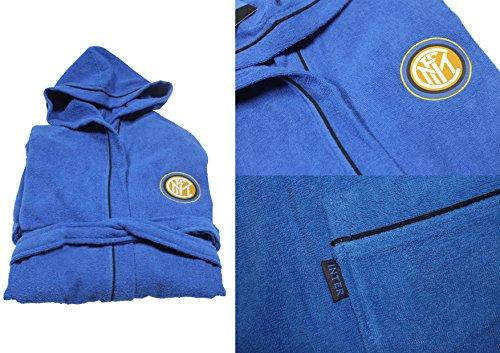 Inter, Bademantel für Kinder, Mikrofrottee, in Tasche, 8-10 Jahre, Blau