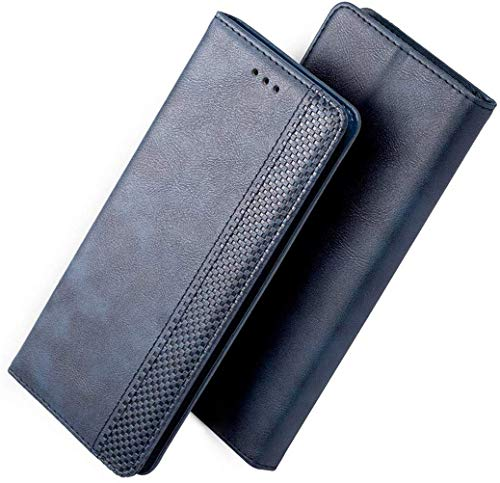 FANFO® Hülle für LG K40S HandyHülle, Premium PU Leder Tasche Magnetverschlüsse Schutzhülle Flip Wallet Klapphülle Folio Book Style Hülle Cover, Blau