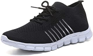 SKLT Light Sneakers for Women Breathable Mesh Socks Running Shoes Female Trainers Slip On Sport Shoes Lace Up Casual Flats