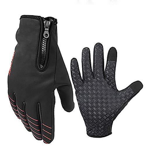 Weier. Ben Winter fietshandschoenen/rijhandschoenen mountainbike handschoenen warm ademend anti-slip zweet sneldrogende volledige vinger handschoenen-Red_XXL