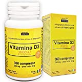 VITAMINA D3 ad alto dosaggio   vitamina d 2000 UI a compressa   360 COMPRESSE, Fornitura 1 anno   VITAMINA D   FATTO IN ITALIA   Vitamina d   Integratori vitamina d, Agocap   Formula one a day