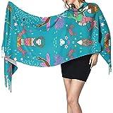 H.D. Sirena canción de cuna para mujeres pequeñas 'S invierno cálido bufanda larga grande suave cachemira bufanda cambiador