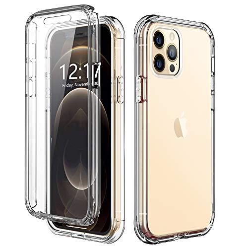 TOPSKY Case Compatible with iPhone 12 Pro Max 6.7 inch 2020,Built-in Screen Protector Full Body Shockproof Heavy Duty Protection Durable Strong Protective Hard Phone Cases Cover,Clear