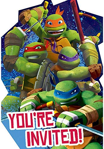 Ninja Turtles Party Invitations (Pack of 8)