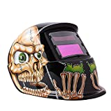 <span class='highlight'>Welding</span> Helmet, Solar Powered <span class='highlight'>Welding</span> Helmet Automatic Darkening and Eye-protecting Helmet Mask Protective Gear Shield Skull Design