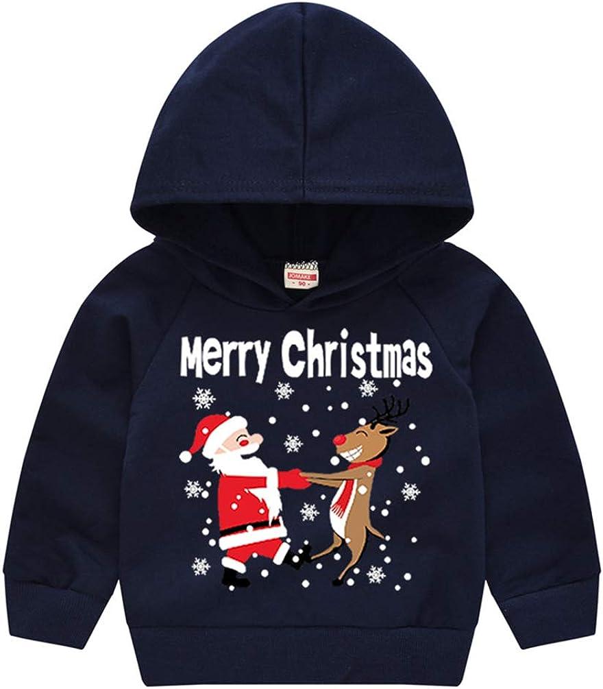 CHILDRENS KEEP CALM AND WAIT FOR SANTA HOODIE BOYS GIRLS CHRISTMAS HOODY