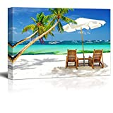 wall26 - Tropical Vacation at The Beach - Canvas Art Wall Art - 24' x 36'