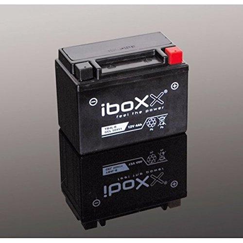 Iboxx Motorrad Gel Batterie / Gelbatterie YTX7A-BS, 12 Volt, 6 Ah für SYM Fiddle II 50 4T, Bj. 2013