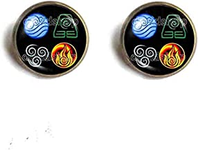Handmade Fashion Jewelry Water Tribe Earth Kingdom Air Nomads Art Symbol Avatar the last Airbender Ear Cuff Earring Legend of Korra Cosplay Cute Gift