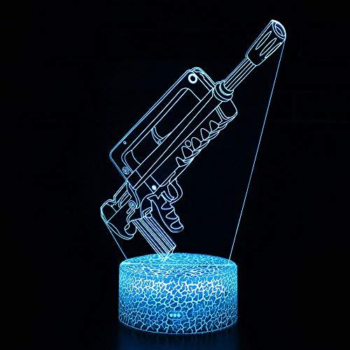 3D Illusion Nuit Lumière Win-Y LED Bureau Table Lampe 7 Couleur Tactile Lampe Maison Chambre Bureau Décor pour Enfants D'anniversaire De Noël Cadeau (MY-2)