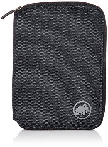 Mammut Uni Geldbeutel Geldbörse Zip Wallet Mélange, schwarz, one size