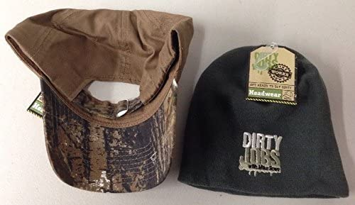2 Pack Adjustable Hat & Cap Dirty Jobs with Mike Rowe Head Wear New