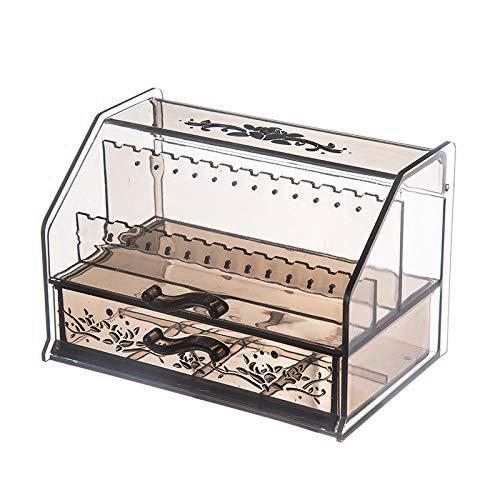 Caja organizadora de joyas de plástico transparente, elegante y creativo, para collar, pulsera, anillo y horquilla, adecuado para mujeres y niñas