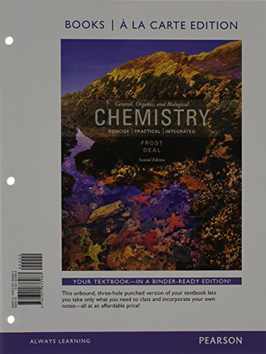 General, Organic, and Biochemistry, Books a la Carte Edition (2nd Edition)