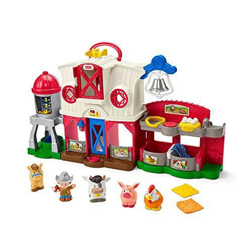Fisher-Price- Little People Fattoria Animali Felici, con Tecnologia Smart Stages, Luci e Suoni, Giocattolo per Bambini 1+ Anni, GTM15