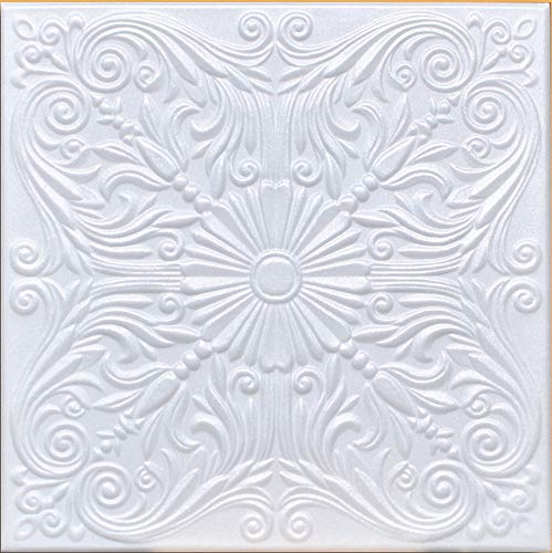 White Styrofoam Decorative Ceiling Tile Astana (Package of 8 Tiles) - Other Sellers Call This Spanish Silver and R139