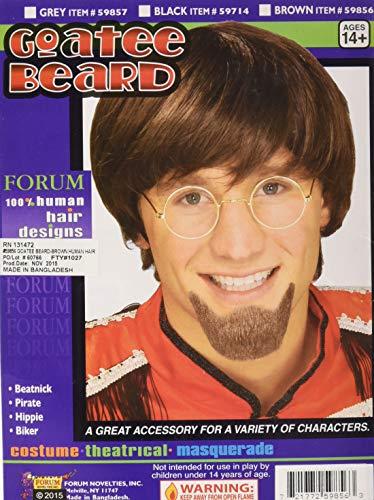 Forum Novelties Men's Human Hair Goatee Beard, Brown, One Size