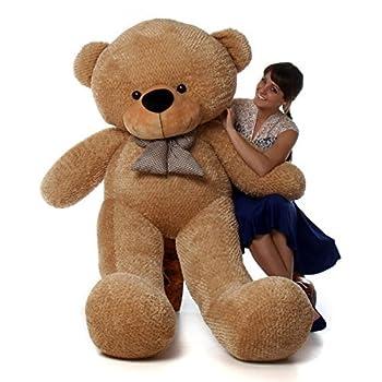 6 Foot Life-Size Teddy Bear Amber Brown Color Huge Stuffed Animal Teddybear Shaggy Cuddles  Original