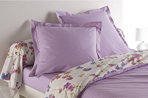 Anne de Solene Garden Dream Taie d'Oreiller Coton Violet 50 x 75 cm