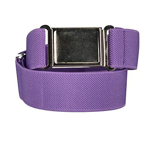 CTM Kids' Adjustable Elastic Belt with Magnetic Buckle, Lavender