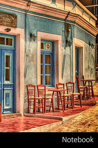 Notebook: Cafe, Arquitectura, Construcción, Grecia Cuaderno / Diario / Libro de escritura / Notas - 6 x 9 pulgadas (15.24 x 22.86 cm), 150 páginas, superficie brillante