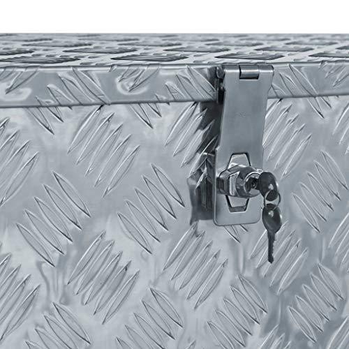 vidaXL Werkzeugbox Aluminium 110,5×38,5x40cm Alu Box Koffer Transportkiste - 4