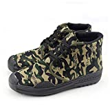 JYMEI Zapatos De Entrenamiento De Camuflaje De Flor Pequeña De La Selva Zapatos De Fanático del Ejército Seguro De Trabajo Zapatos De Liberación Laboral Ayuda Alta,Flowers-41