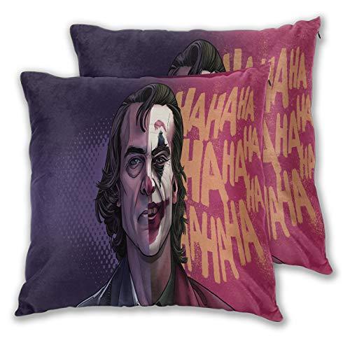 Set di 2 federe decorative per cuscini Joker diverse facce per divano, letto, sedia, 55 x 50 cm