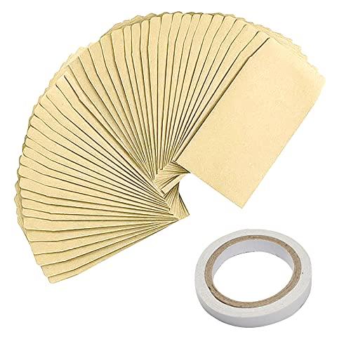 burkfeeg 100 Piezas Bolsas Papel Pequeñas Semillas Bolsitas de Semillas Mini Sobre Vintage Bolsas Papel Kraft para Semillas Moneda (Con Cinta de Doble Cara)
